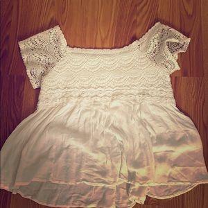 White flowy dress shirt, never worn before.